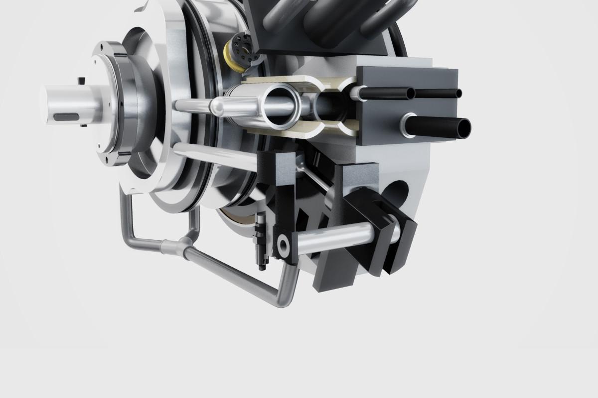 Animazione 3D – Motore endotermico rotativo