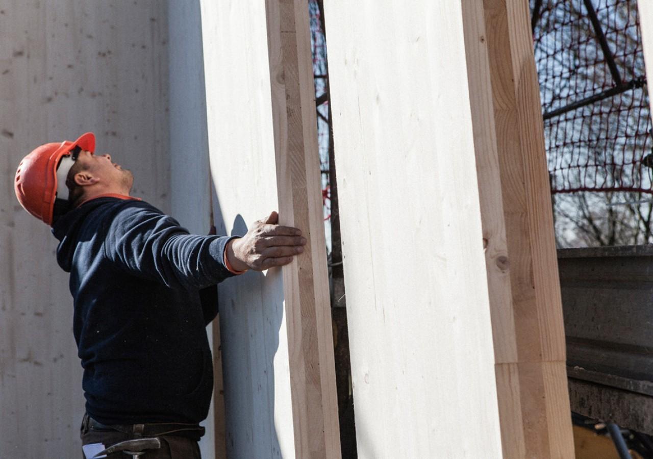 Reportage fotografico costruzione casa in legno