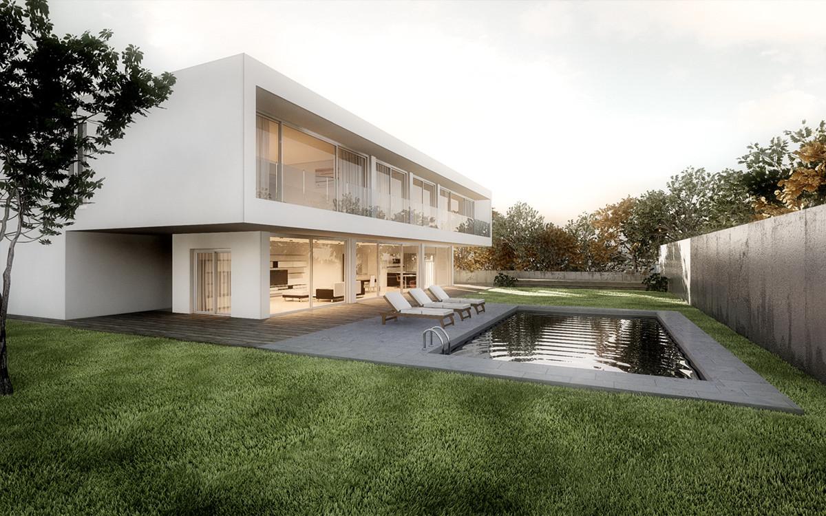 Rendering fotorealistico concept casa moderna