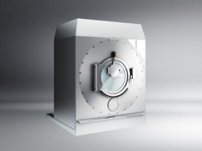 Rendering lavatrice industriale