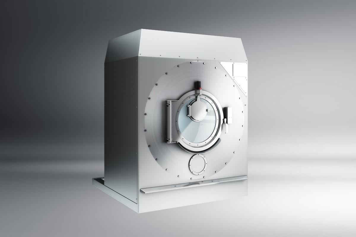 Rendering di prodotto - lavatrice industriale