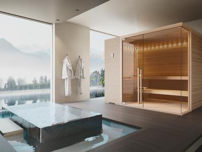 Rendering fotorealistico saune