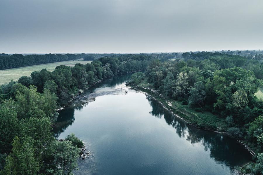Con il drone sul fiume Brenta