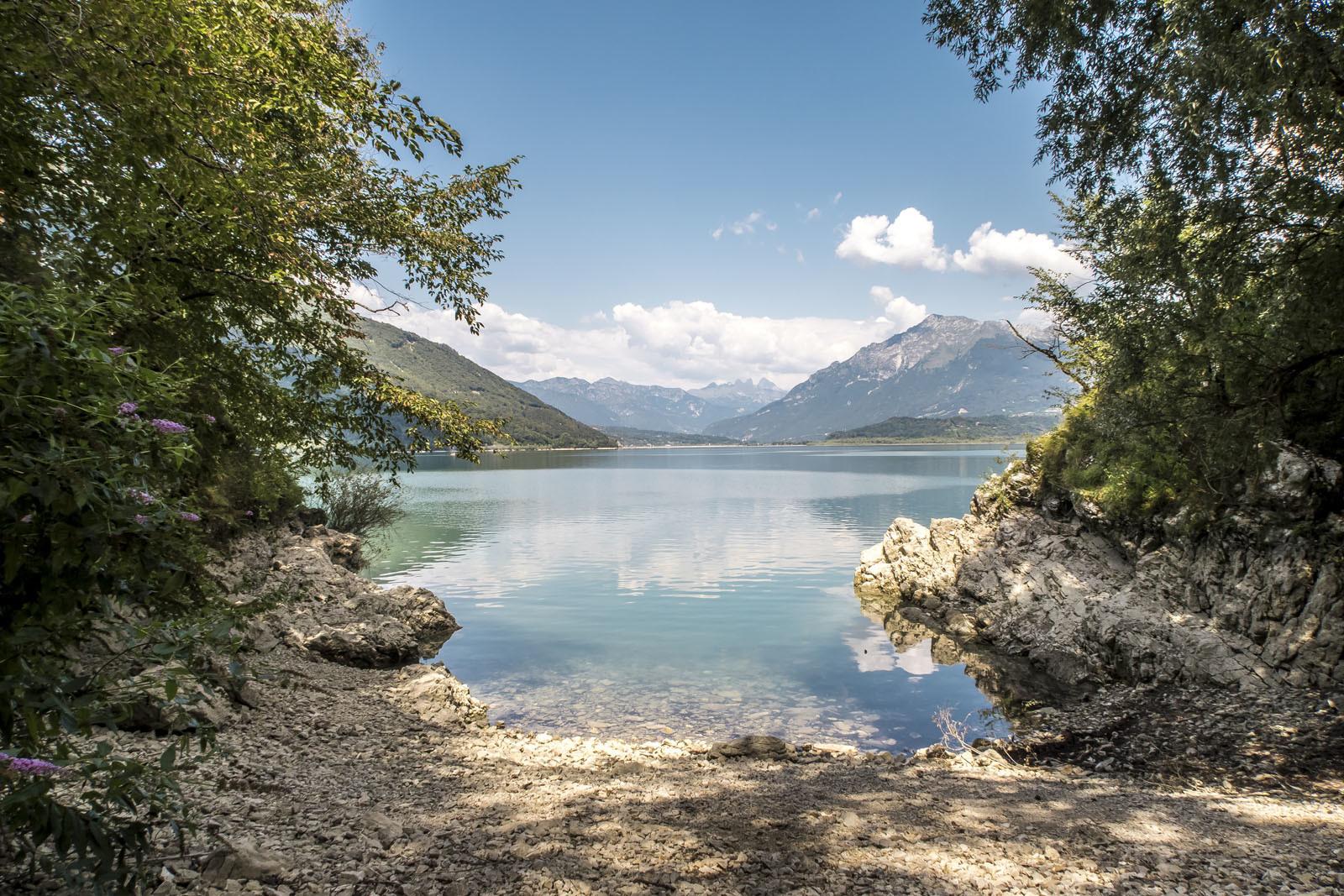 Lago di Santa Croce a Belluno