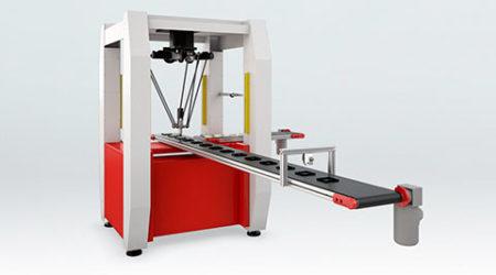Animazione 3D concept robot per imballaggio