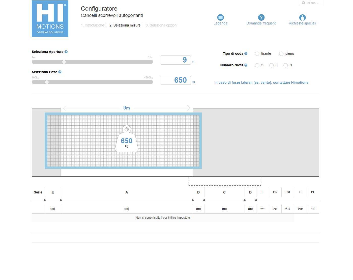 Configuratore online Hi-motions